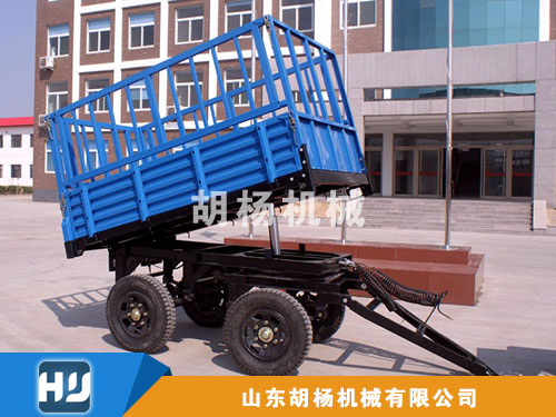 2吨自卸后翻高栏挂车