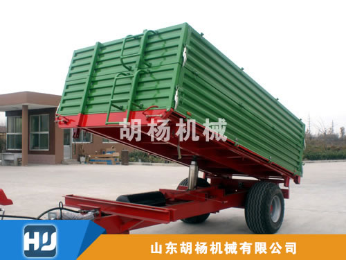 3吨双箱板后翻、三项自卸拖车
