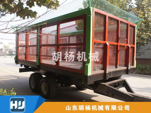 10吨甘蔗木片拖车三向自卸